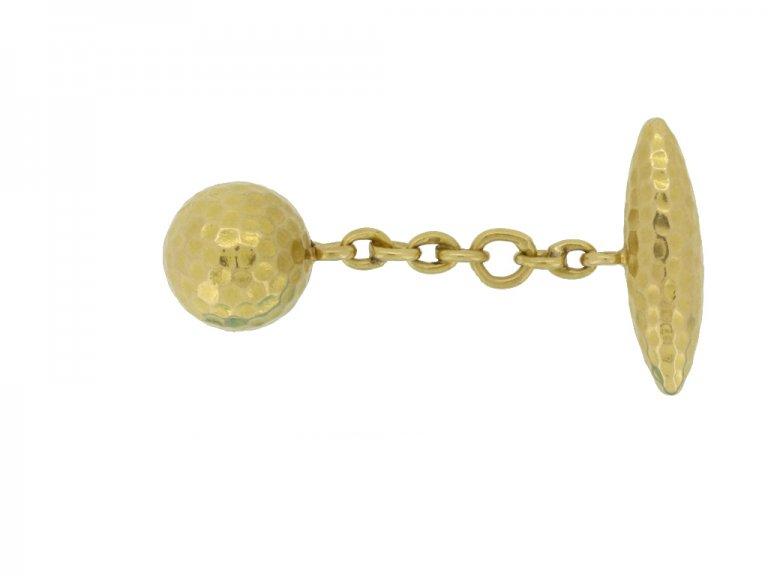 vintage gold cufflinks berganza hatton garden