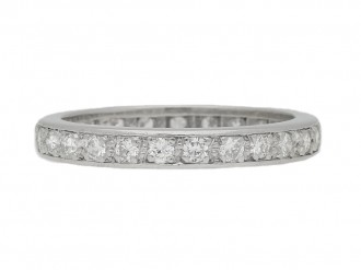 front view Diamond set eternity ring