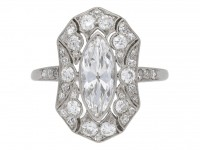 front view Marquise diamond clust