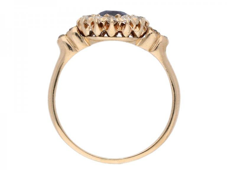 back view antique spinnel diamond ring berganza hatton garden