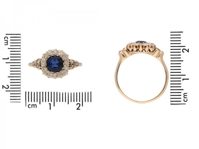 size view antique spinnel diamond ring berganza hatton garden