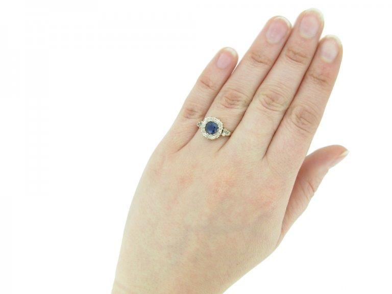 hand view antique spinnel diamond ring berganza hatton garden