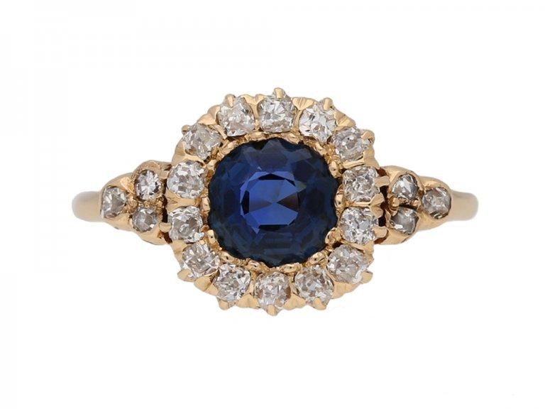 front veiw antique spinnel diamond ring berganza hatton garden