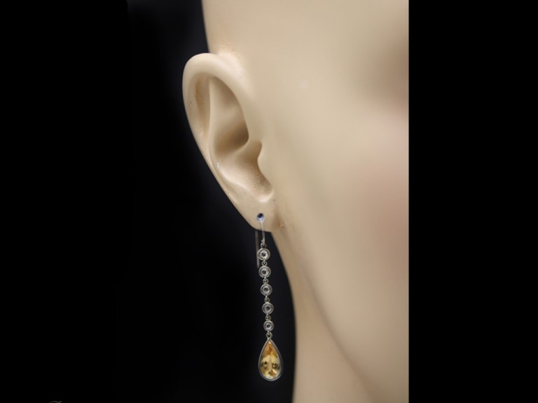 imperial topaz diamond drop earrings berganza hatton garden