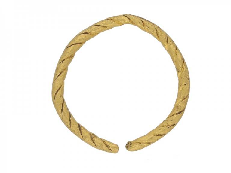 back view Viking gold penannular ring, circa 9th   11th century.