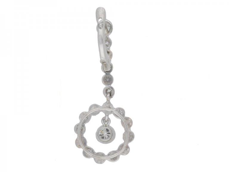 vintage diamond drop earrings berganza hatton garden