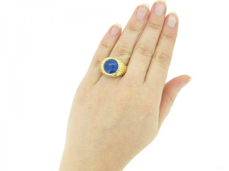 Boucheron lapis lazuli ring berganza hatton garden
