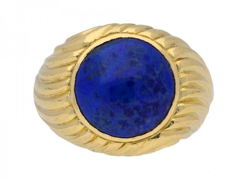 front view Boucheron lapis lazuli ring berganza hatton garden