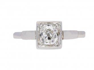 front view Art Deco diamond engagement ring, circa 1925.
