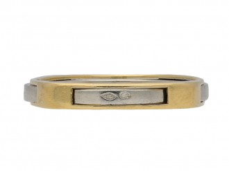 Wedding ring in 18ct yellow and white gold berganza hatton garden