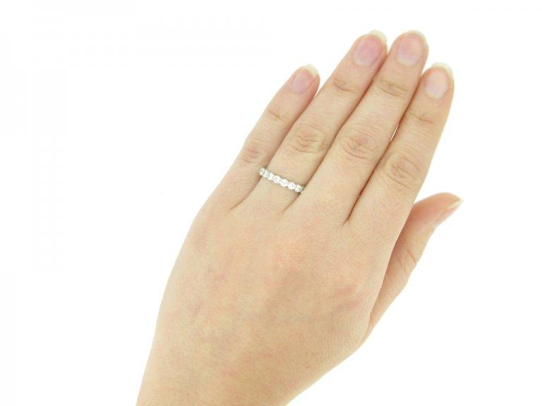 hand view Van Cleef & Arpels diamond eternity ring, circa 1950.