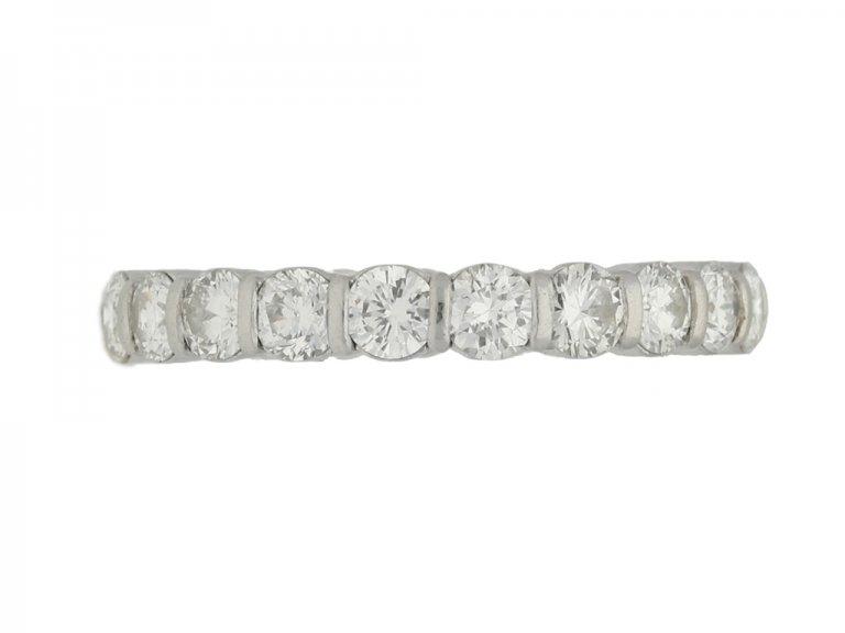 front view Van Cleef & Arpels diamond eternity ring, circa 1950.