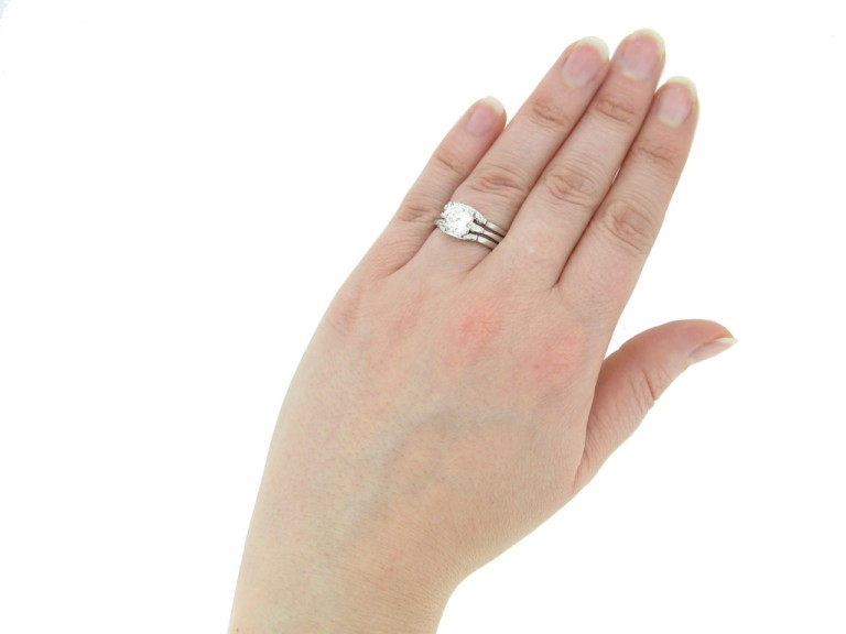 vintage diamond ring with matching rings berganza hatton garden