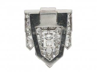 Art Deco diamond clip brooch, circa 1930.