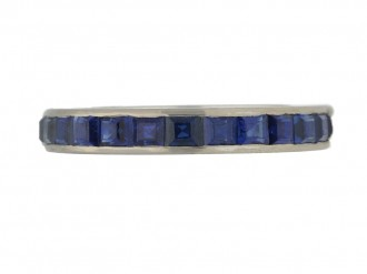 front view Sapphire eternity ring, circa 1930s.