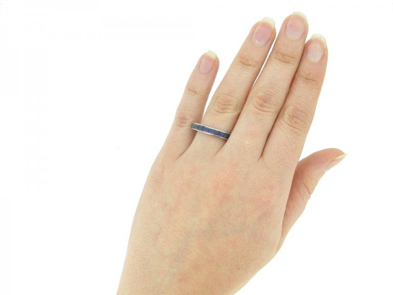 Sapphire eternity ring, circa 1930s.