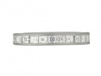 front view Tiffany & Co. diamond eternity ring, circa 1930.