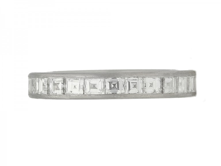 front view Tiffany & Co. diamond eternity ring, circa 1930.