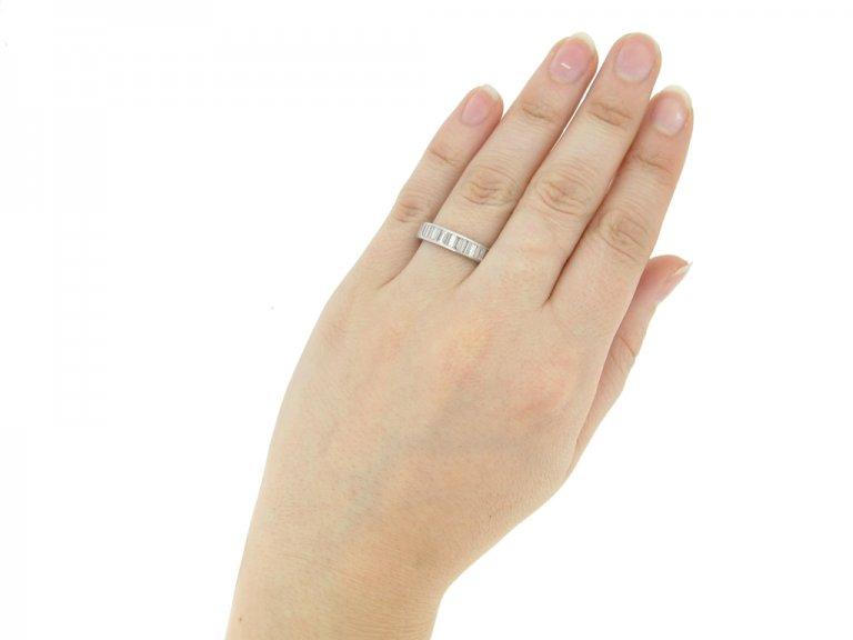 hand view Diamond eternity ring, circa 1950s.
