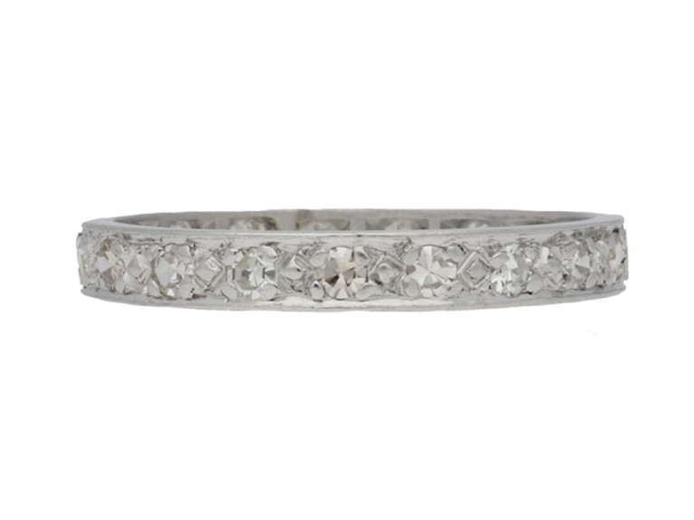 front view Diamond set eternity ring, circa 1930.