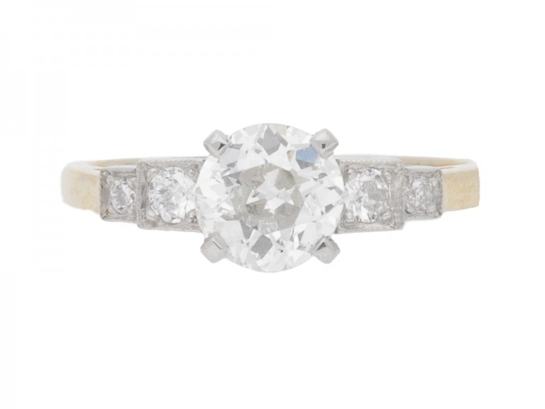 front view Diamond engagement ring, circa 1930.