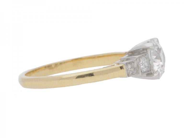 side view Diamond engagement ring, circa 1930.