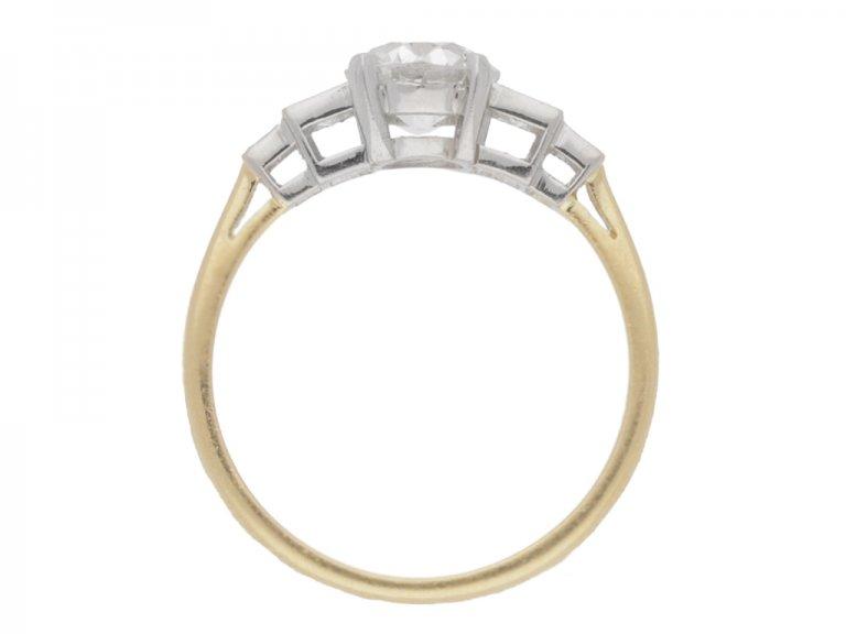 back view Diamond engagement ring, circa 1930.