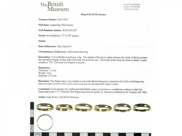 cert view gold posy ring berganza hatton garden