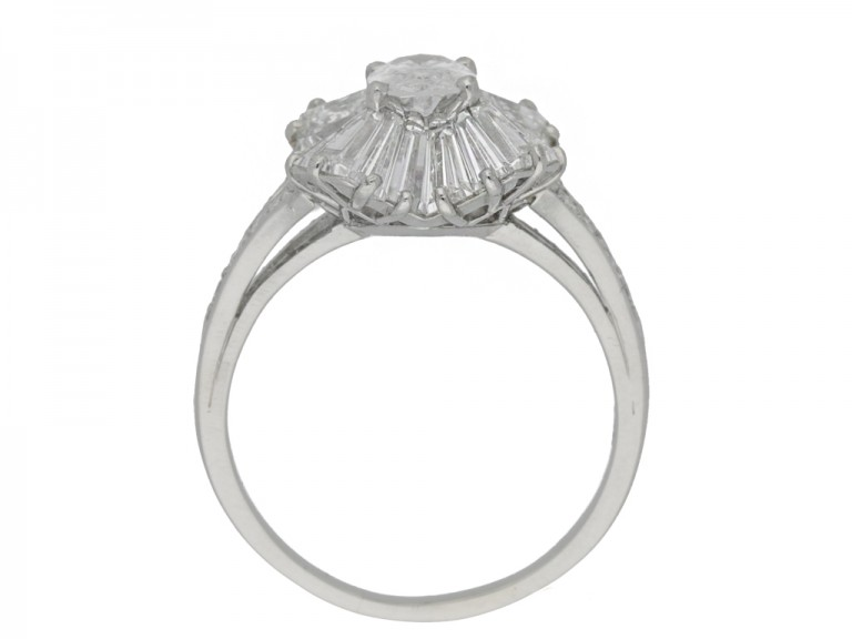 back view Vintage diamond ballerina ring by Tiffany & Co., circa 1970.
