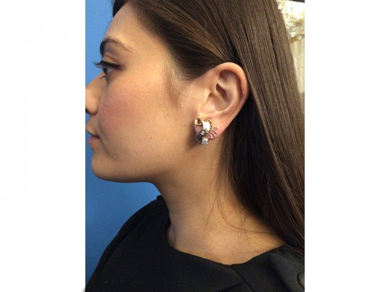 vintage clip diamond earrings berganza hatton garden