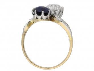 Belle Époque sapphire diamond ring berganza hatton garden