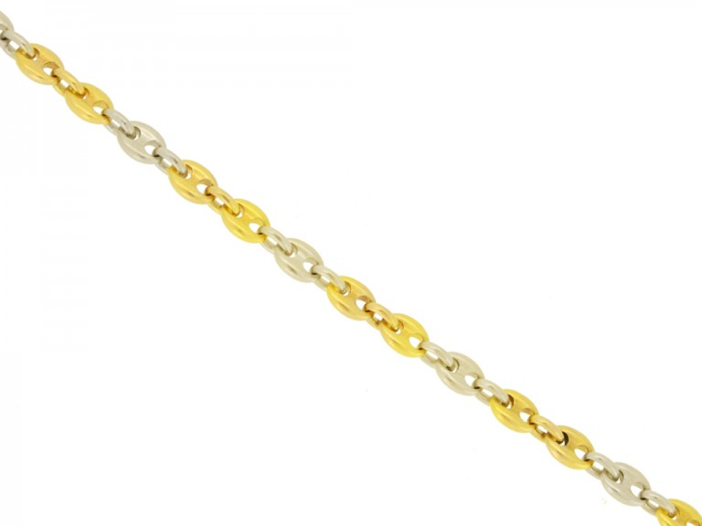 front view Cartier gold anchor chain bracelet berganza hatton garden
