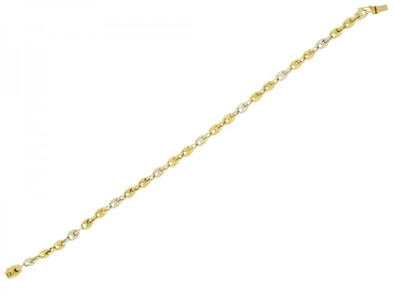 Cartier gold anchor chain bracelet berganza hatton garden
