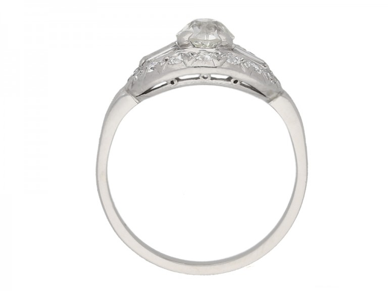 Fancy diamond cluste  ring, circa 1920. berganza hatton garden