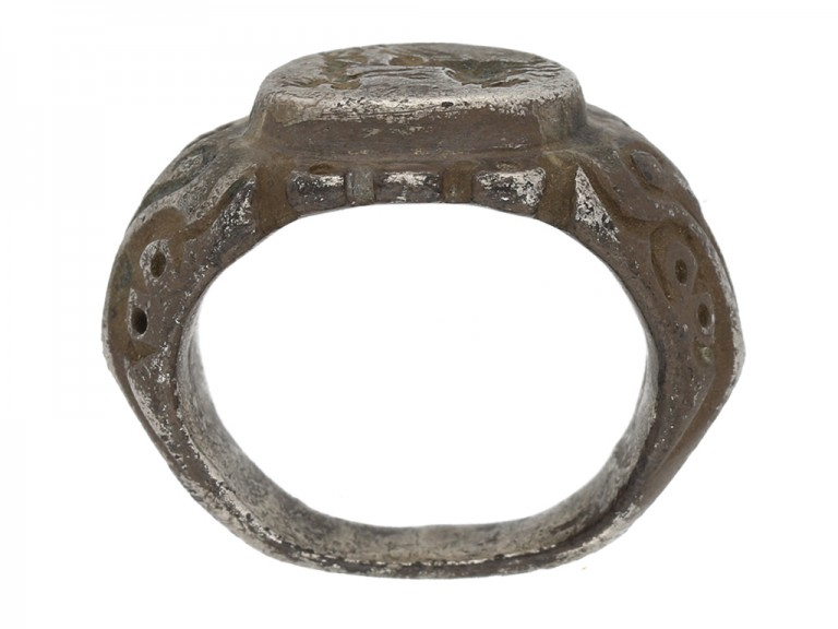 Roman silver intaglio ring berganza hatton garden