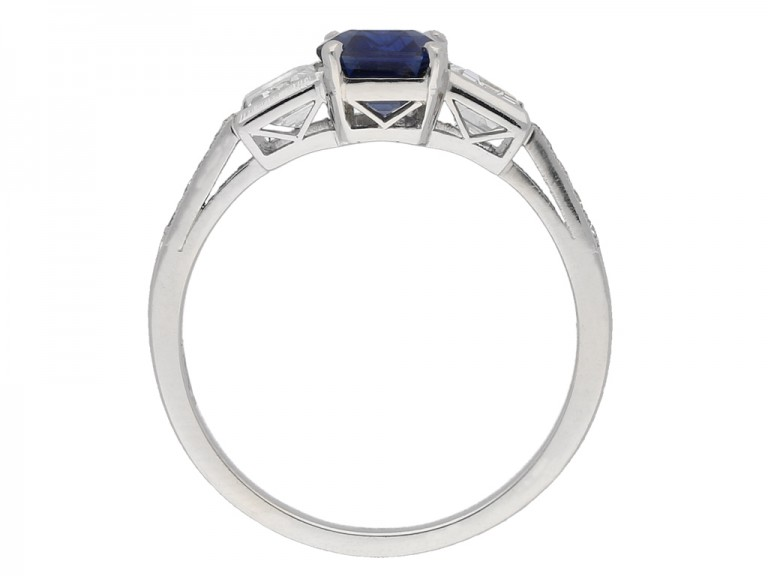 Sapphire diamond Art Deco ring berganza hatton garden