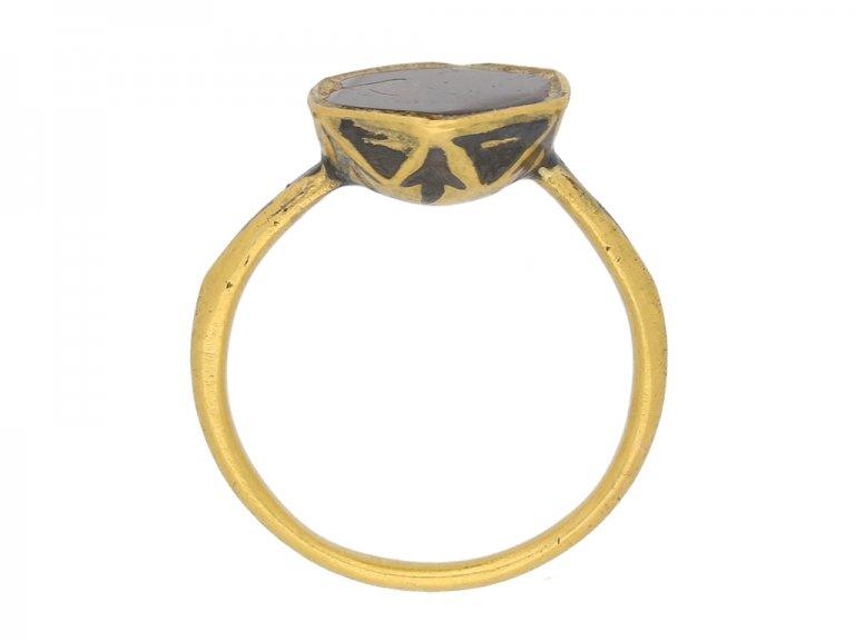 Byzantine garnet enamel ring berganza hatton garden