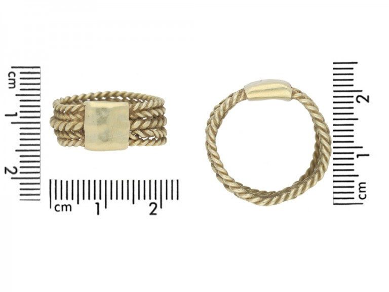 Saxon five bar braided ring berganza hatton garden