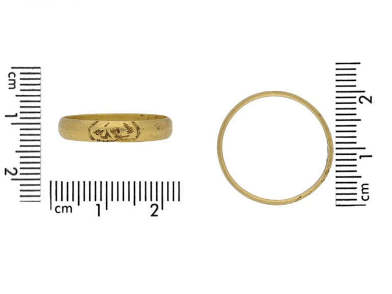Post Medieval gold skull ring