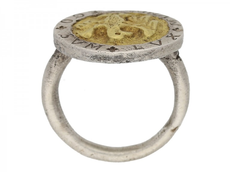 Post Medieval silver ring berganza hatton garden