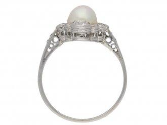 Antique pearl diamond ring berganza hatton garden