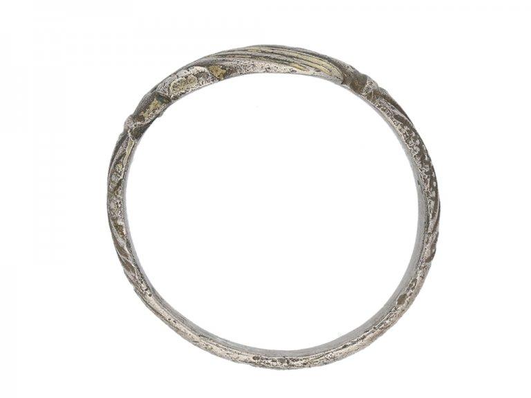 Medieval gilt fede Love ring berganza hatton garden