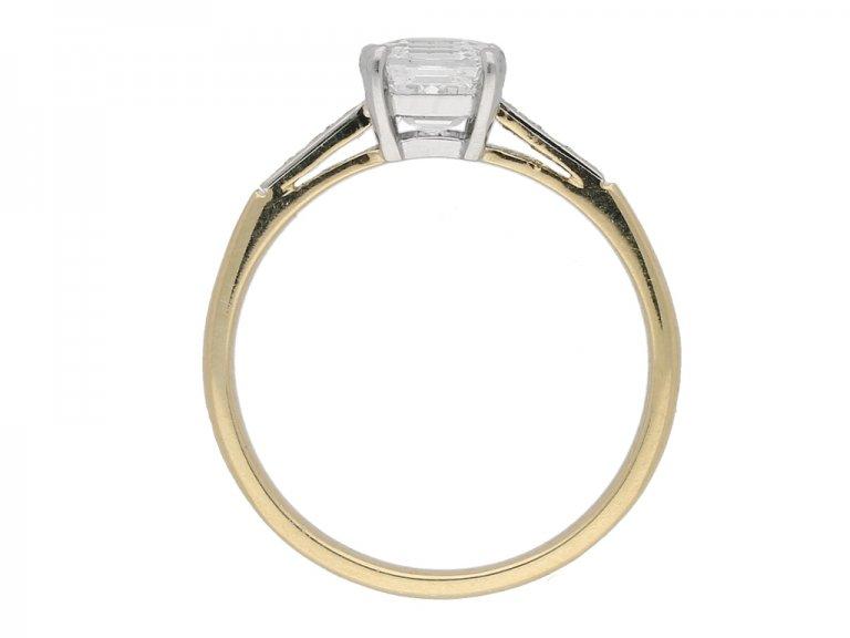 Antique Asscher cut diamond ring berganza hatton garden