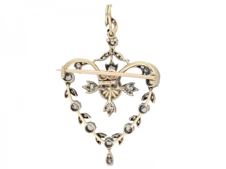 Antique natural pearl diamond pendant berganza hatton garden