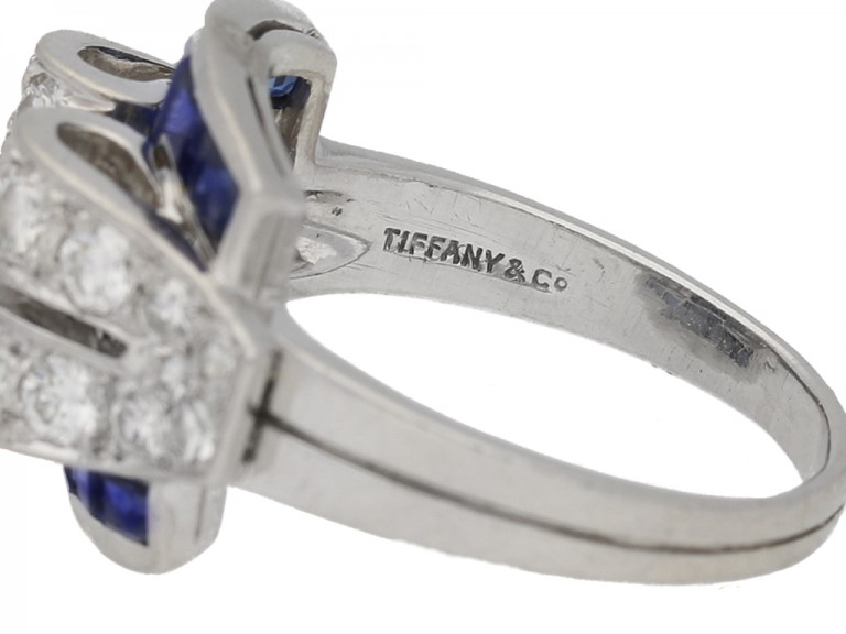 sapphire diamond ring Tiffany Co berganza hatton garden