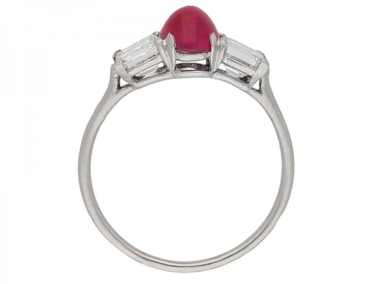 Burmese ruby diamond ring Cartier berganza hatton garden