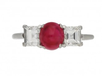 Burmese ruby diamond ring Cartier berganza hatton garden