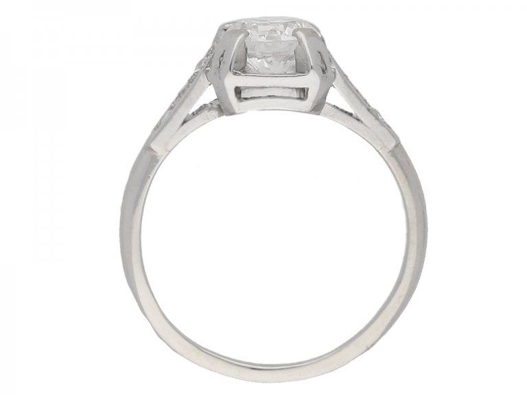 back view  Art Deco diamond ring, French, circa 1930. berganza hatton garden