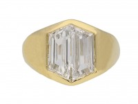 front view vintage diamond ring hatton garden berganza