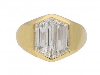 front view vintage diamond ring hatton garden berganza